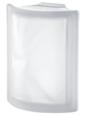 Pustak szklany luksfer Angolare Neutro O Sat Seves Design