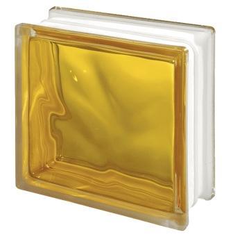 Pustak szklany luksfer 1919/8 Wave Brilly Yellow Seves Basic