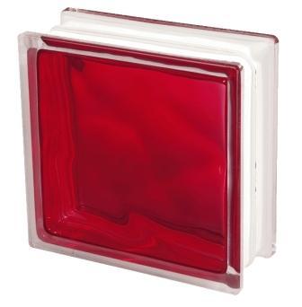 Pustak szklany luksfer 1919/8 Wave Brilly Red Seves Basic