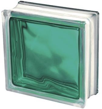 Pustak szklany luksfer 1919/8 Wave Brilly Turquoise Seves Basic