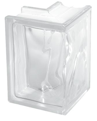 Pustak szklany luksfer wykończeniowy 1919/8 Wave Corner 90 Seves Basic
