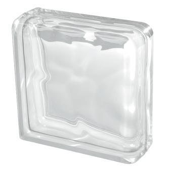 Pustak szklany luksfer wykończeniowy 1919/8 Wave Double End Seves Basic